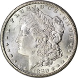 1880-CC MORGAN DOLLAR - UNCIRCULATED