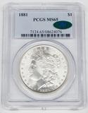 1881 MORGAN DOLLAR - PCGS MS65 - CAC