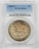 1882-O MORGAN DOLLAR - PCGS MS64