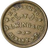 CIVIL WAR STORE CARD - D L WING, UNION FLOUR, ALBANY, NY