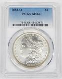 1883-O MORGAN DOLLAR - PCGS MS64