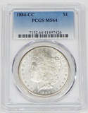 1884-CC MORGAN DOLLAR - PCGS MS64