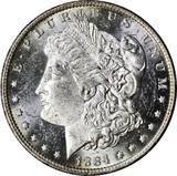 1884-O MORGAN DOLLAR - UNCIRCULATED - PROOFLIKE