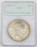 1885-O MORGAN DOLLAR - PCGS MS63 - RATTLER HOLDER