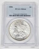 1886 MORGAN DOLLAR - PCGS MS64