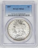 1887 MORGAN DOLLAR - PCGS MS63