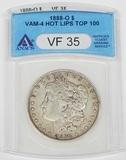 1888-O MORGAN DOLLAR - VAM-4 HOT LIPS TOP 100 VARIETY - ANACS VF35