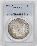 1892-CC MORGAN DOLLAR - PCGS MS61