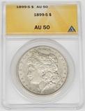 1899-S MORGAN DOLLAR - ANACS AU50