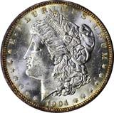 1904-O MORGAN DOLLAR - UNCIRCULATED - PROOFLIKE REVERSE