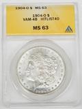 1904-O MORGAN DOLLAR - VAM-4B HITLIST 40 - ANACS MS63