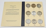 COMPLETE SET of PEACE DOLLARS in OLD LIBRARY of COINS ALBUM