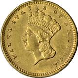 1856 LIBERTY HEAD $1 GOLD PIECE