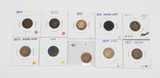 TEN (10) EARLY INDIAN HEAD CENTS - 1859 to 1876