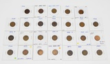 26 INDIAN HEAD CENTS - 1880 to 1909