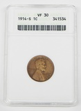 1914-S LINCOLN CENT - ANACS VF30 - OLD HOLDER