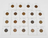 19 CENTS in 2x2s - 1895 INDIAN + 1909 VDB to 1919-S - SOME BETTER DATES