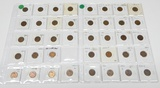 39 WHEAT CENTS in 2x2s - 1911 to 1952-D