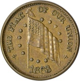 1863 CIVIL WAR PATRIOTIC TOKEN - THE FLAG OF OUR UNION