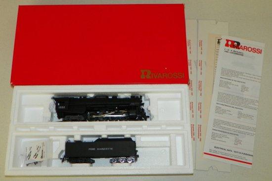 HO Rivarossi #5436 Pere Marquette 2-8-4 Berkshire Steam Engine No.1222 w/OB