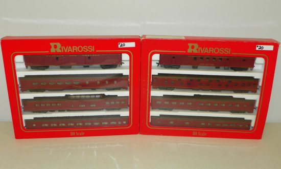 HO Rivarossi #6942/6943 Norfolk & Western 8-Car Passenger Set w/OBs