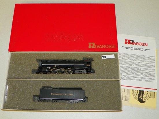 HO Rivarossi #1590 Chesapeake & Ohio 4-6-4 Hudson Steam Engine No.303 w/OB