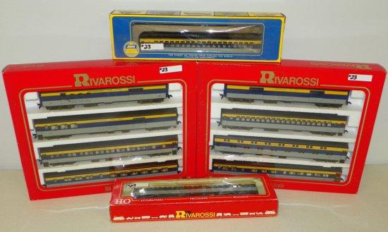 HO Rivarossi #6926/6927 Chesapeake & Ohio 10-Car Passenger Set w/OBs