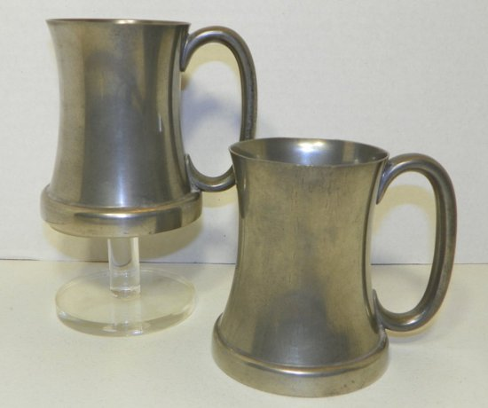 Abercrombie & Fitch New York Pewter 3/4 Pint Tankards/Mugs
