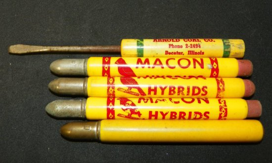 Group of Advertising Bullet Pencils & Screwdriver
