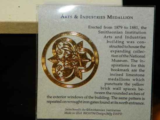 Smithsonian Arts & Industries Medallion with Presentation Box