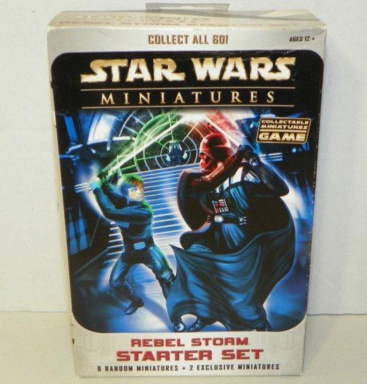 Star Wars Miniatures Rebel Storm Starter Set Sealed
