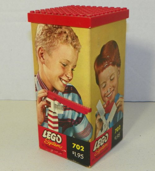 Early Lego System by Samsonite #702 Box with Contents