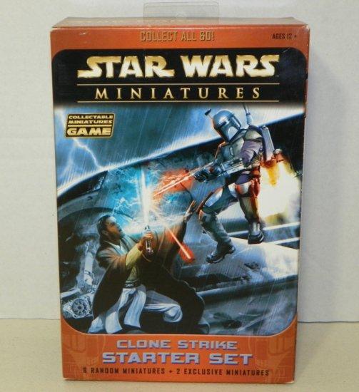 Star Wars Miniatures Clone Strike Starter Set Boxed