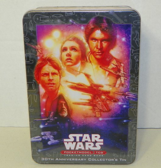 Star Wars Pocketmodel TCG 30th Anniv. Collector Tin with Several Unopened Packs