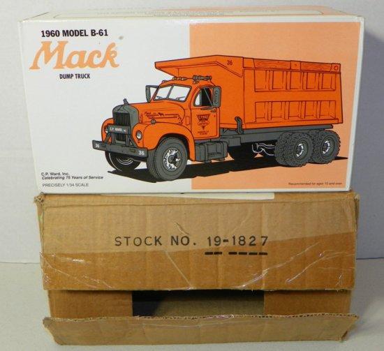 First Gear 1960 Model B-61 Mack Dump Truck 1996 Toy Show Boxed