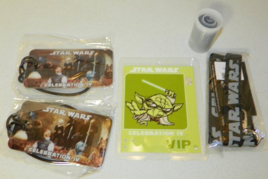 Group of Star Wars Celebration IV Convention Items VIP Badge etc