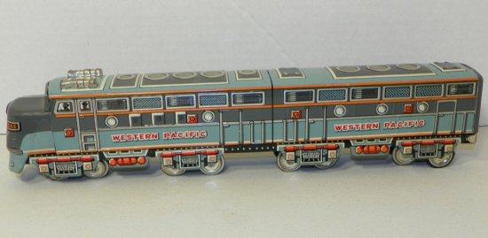"M Japan 15"" Tin Friction Western Pacific Train/Locomotive"