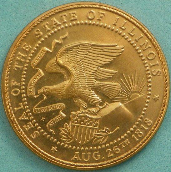 1968 Illinois Sesquicentennial Coin/Token
