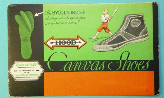 Hood Canvas Shoes Ink Blotter dated 1933
