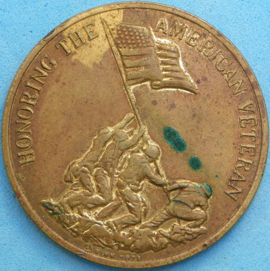 Honoring the American Veteran/Preserving American Freedom 1978 Token/Medal