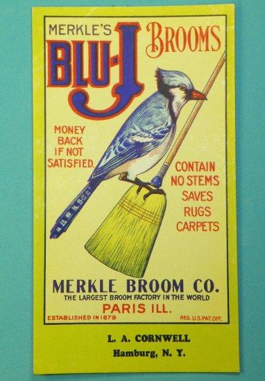 Merkle's Blu-J Brooms Ink Blotter