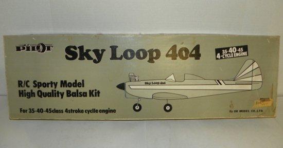 OK Model Co Pilot Sky Loop 404 Balsa RC Airplane Model Kit
