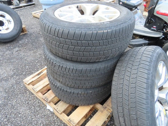 """GMC 6 lug 20"""" wheels w/ tires"""