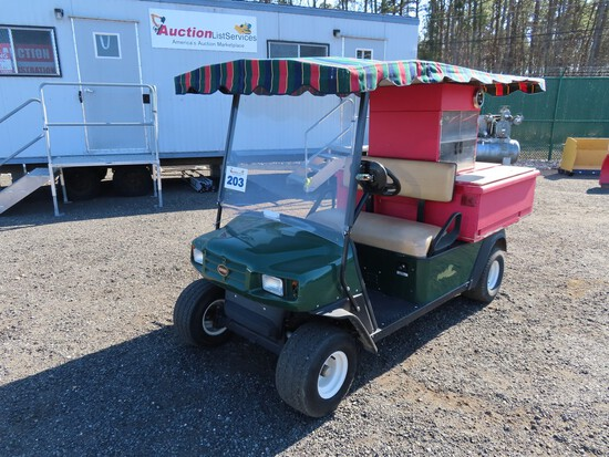 EZ-GO Golf Cart W/ Snack Stand and Canopy