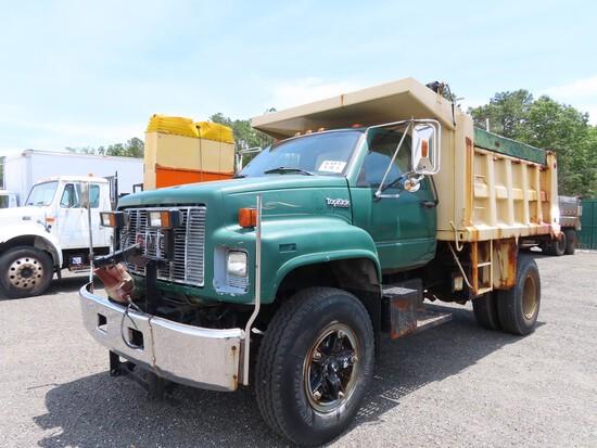 1990 GMC Topkick Single Axle Dump w/ Plow