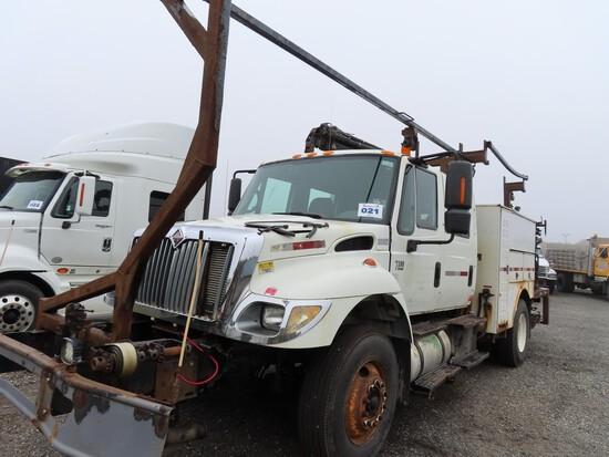 2006 International 7300 Service Truck w/ Hiab Crane