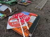 Lot of Street/Road Work Signs