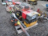 Lot of Misc Tool Boxes w/ Tools, Leaf Blowers, Shopvac