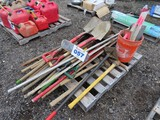 Lot of Shovels, Pick Axes and Sledge Hammers