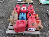 Lot of Gas Cans Approx. 11